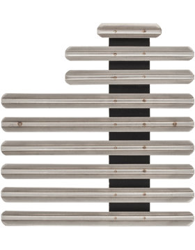 23 Ribbon Mount Eighth Inch Gap Staggered Right Metal