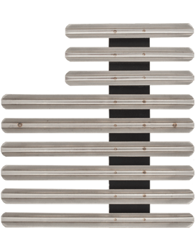 24 Ribbon Mount Eighth Inch Gap Staggered Right Metal