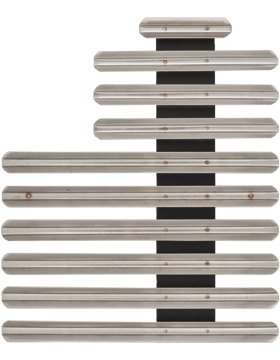 25 Ribbon Mount Eighth Inch Gap Staggered Right Metal