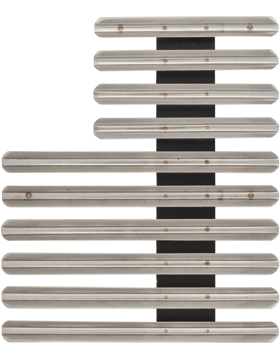 26 Ribbon Mount Eighth Inch Gap Staggered Right Metal