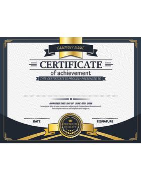 Certificate of Achievement, Paper