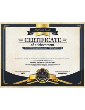 Certificate of Achievement, Parchment
