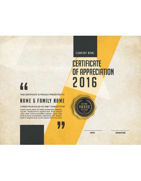 Certificate of Appreciation, Parchment