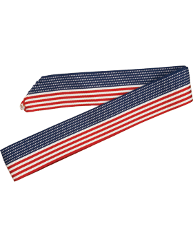 ROTC Neck Drape (RC-D303) Red White and Blue Stars and Stripes small