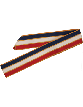 ROTC Neck Drape (RC-D304) Red White and Blue with Gold