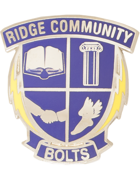 Ridge Community High School (Ridge Community Bolts) JROTC Unit Crest