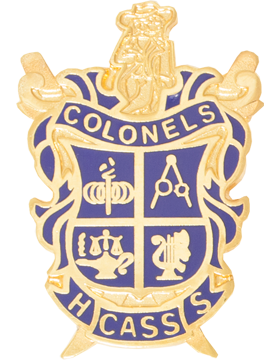 Cass High School (Colonels Cass HS) JROTC Unit Crest