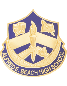 Alfred E. Beach High School JROTC Unit Crest small