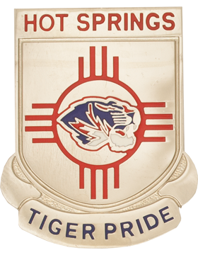 Hot Springs High School (Hot Springs Tiger Pride) JROTC Unit Crest