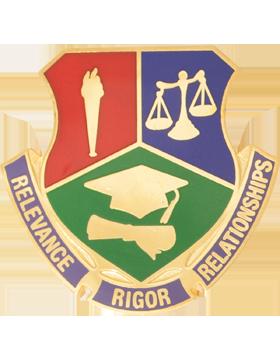 Thurgood Marshall High School (Relevance Rigor Relationships) JROTC Unit Crest
