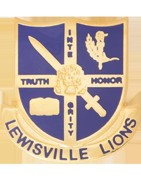Lewisville High School (Lewisville Lions) JROTC Unit Crest