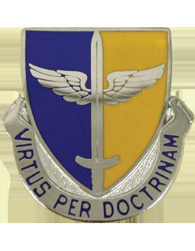 Embry-Riddle Aeronautical University (Virtus Per Doctrinam) ROTC Unit Crest