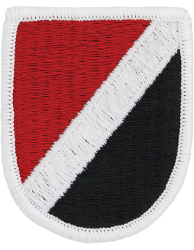 ROTC Flash (RC-F006SF) 6 Special Forces Red & Black with White Stripe and Merrow