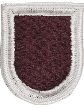 ROTC Flash (RC-F120) Maroon with White Border