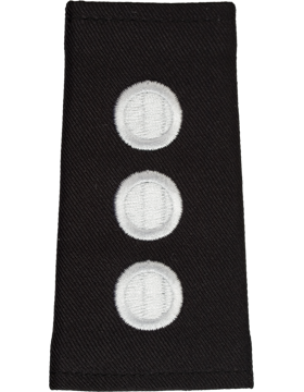 Army ROTC Shoulder Mark (RC-M123/L) Captain Male (Three Disk) (Pair)