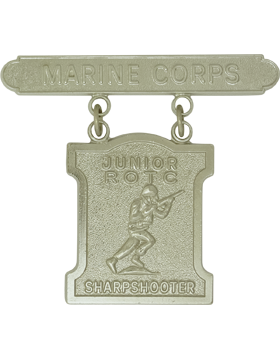 USMC JROTC Sharpshooter Badge No Shine Rank