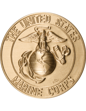 ROTC Medal Insert (RC-MI202A) United States Marine Corps Gold 2in