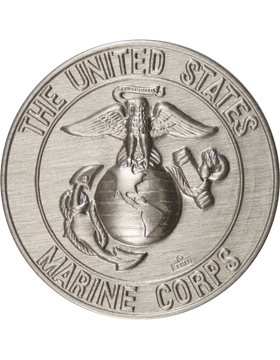 ROTC Medal Insert (RC-MI202B) United States Marine Corps Silver 2in