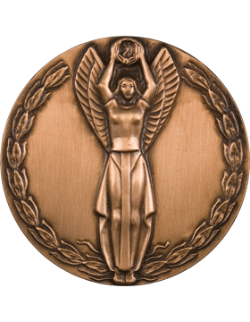 ROTC Medal Insert (RC-MI205C) Winged Victory Insert Bronze 2in small