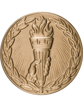 ROTC Medal Insert (RC-MI206A) Achievement w/ Hand Torch & Wreath Insert Gold