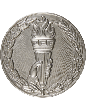 ROTC Medal Insert (RC-MI206B) Achievement w/ Hand Torch & Wreath Insert Silver