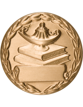 ROTC Medal Insert (RC-MI208A) Lamp On Books with Wreath Insert Gold 2