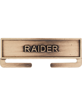 ROTC Bronze Medal Topper (RC-ML-A15) Raider