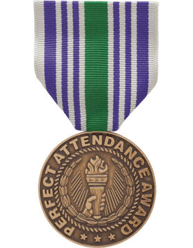 ROTC Medal Box Set (RC-ML-BS104) Perfect Attendance Award (N-1-4)