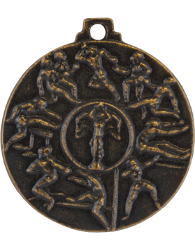 ROTC Medal (RC-ML102D) Fourth Place Cadet Challenge Antique Gold (Female)