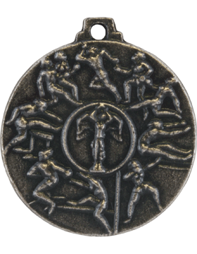 ROTC Medal (RC-ML102E) Fifth Place Cadet Challenge Antique Silver (Female)