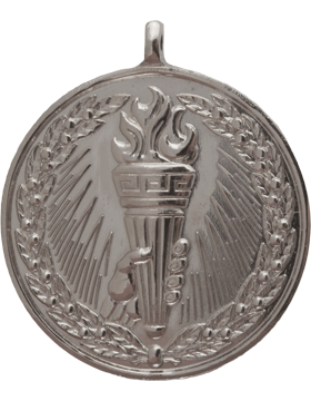 ROTC Medal (RC-ML105B) Torch with Wreath Silver