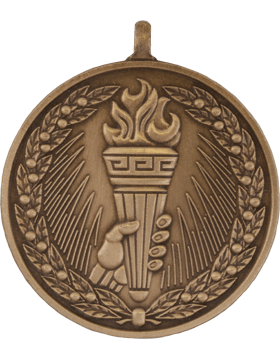 ROTC Medal (RC-ML105C) Torch with Wreath Bronze