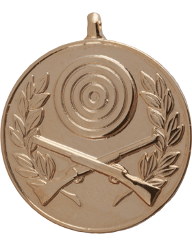 ROTC Medal (RC-ML106A) Crossed Rifles with Bullseye and Wreath Gold