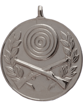 ROTC Medal (RC-ML106B) Crossed Rifles with Bullseye and Wreath Silver