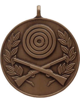 ROTC Medal (RC-ML106C) Crossed Rifles with Bullseye and Wreath Bronze
