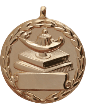ROTC Medal (RC-ML107A) Lamp on Books Round Gold