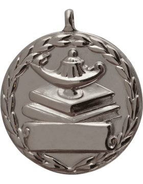 ROTC Medal (RC-ML107B) Lamp on Books Round Silver
