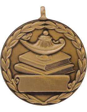 ROTC Medal (RC-ML107C) Lamp on Books Round Bronze