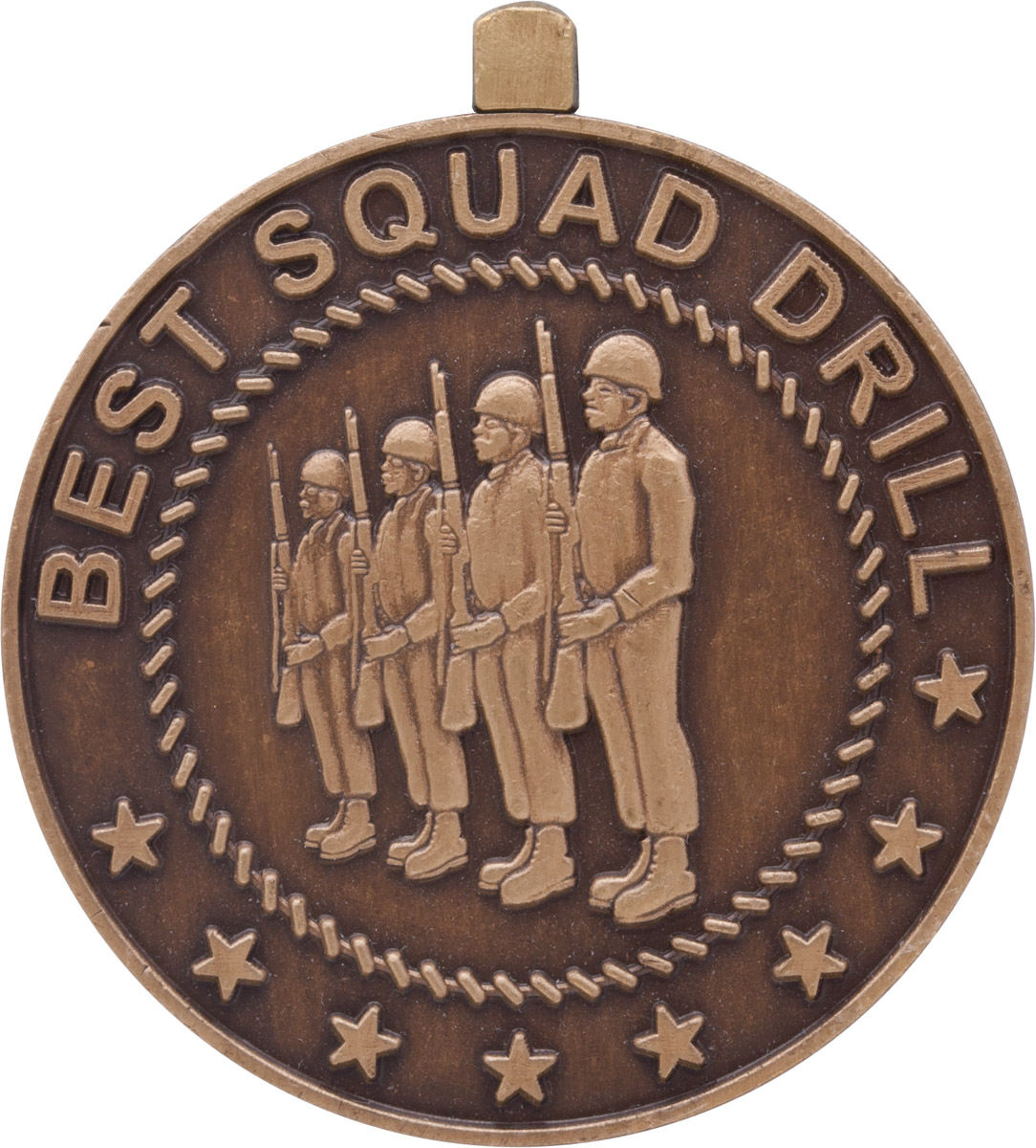 Military Ball Decorations: ROTC Medal (RC-ML165C) Best Squad Drill Bronze