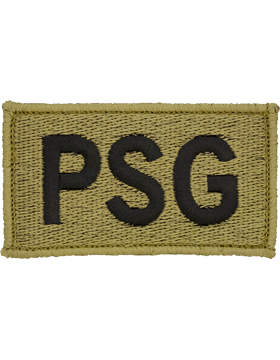 PSG Bagby Green Leadership Patch with Fastener