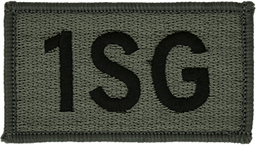 1SG Foliage Leadership Patch with Fastener