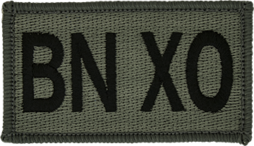 BN XO Foliage Leadership Patch with Fastener