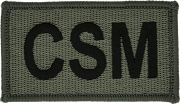 CSM Foliage Leadership Patch with Fastener