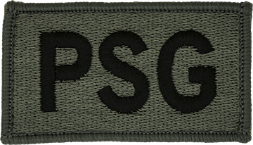 PSG Foliage Leadership Patch with Fastener