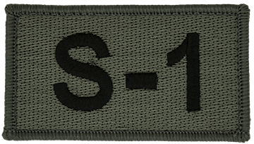 S-1 Foliage Leadership Patch with Fastener