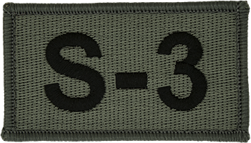 S-3 Foliage Leadership Patch with Fastener