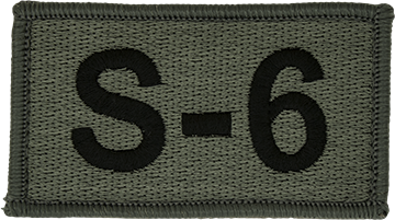 S-6 Foliage Leadership Patch with Fastener