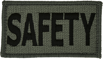 SAFETY Foliage Leadership Patch with Fastener