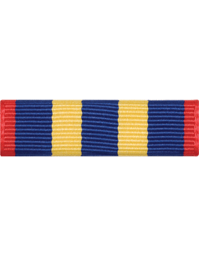 ROTC Ribbon (RC-R706) Community Service Red Blue and Yellow (L-6)