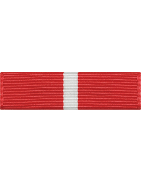 ROTC Ribbon (RC-R707) Commendation Long Red and White (L-7)